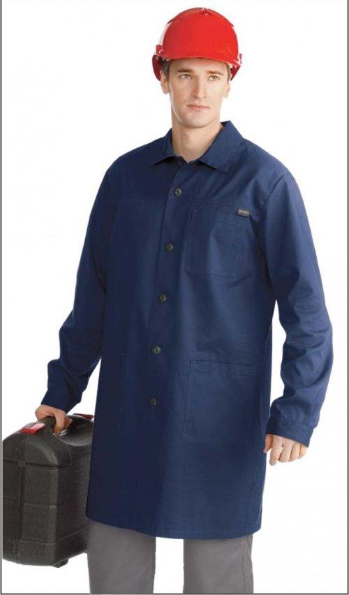 Халат мужской рабочий синий